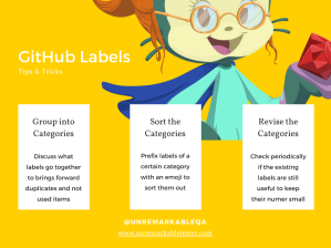 GitHub labels tips and tricks